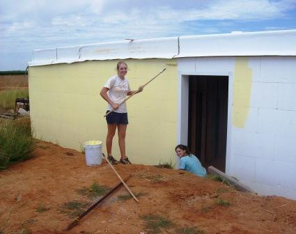 Painting the ICF Exterior
