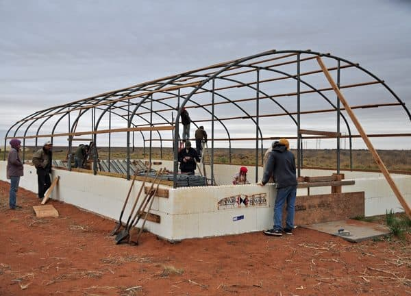 Greenhouse ICF Walls Poured