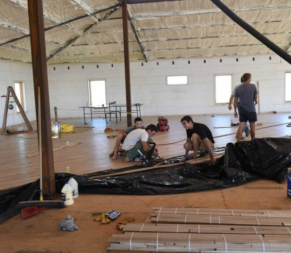 The Wood Floor - Laying the Wood
