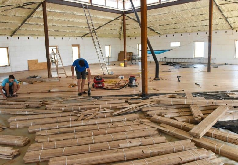 The Wood Floor - Laying the Floor