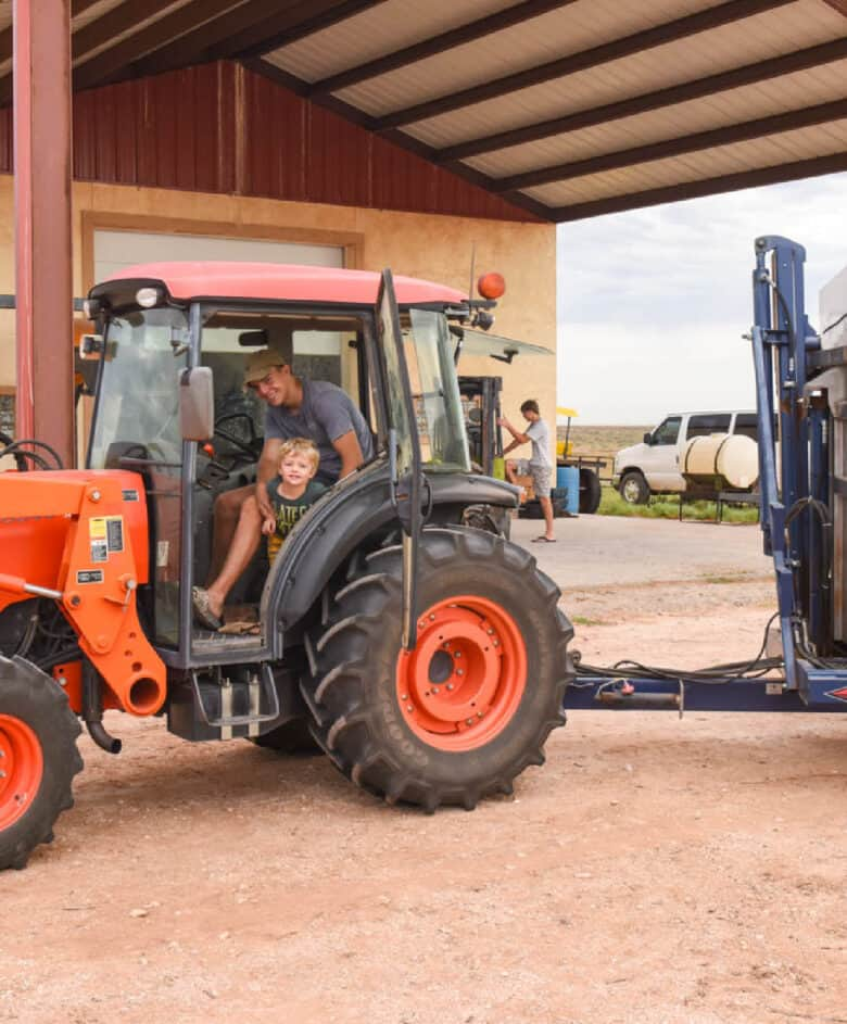 Guys in the tractor