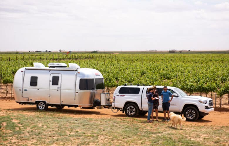 RV Camping in Texas at Oswald Vineyard
